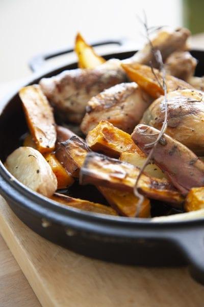 ארוחה בתבנית אחת - עוף עם ירקות