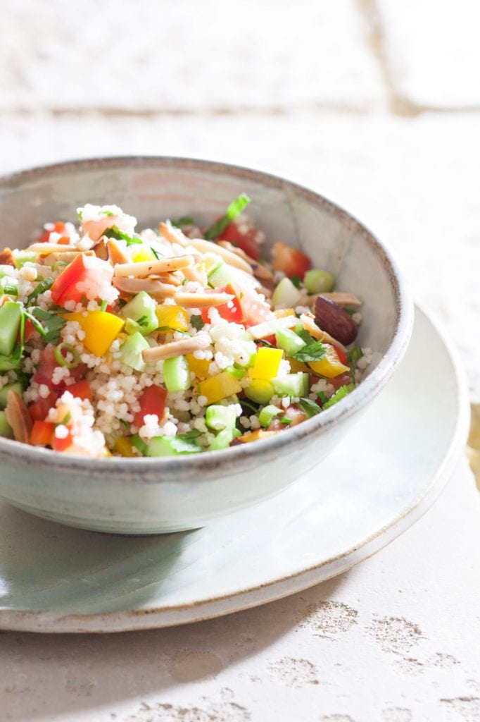 סלט קוסקוס עם ירקות טריים