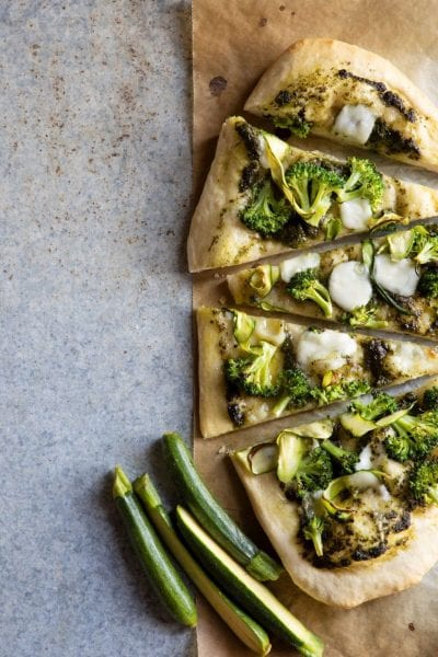 פיצה זוקיני ברוקולי