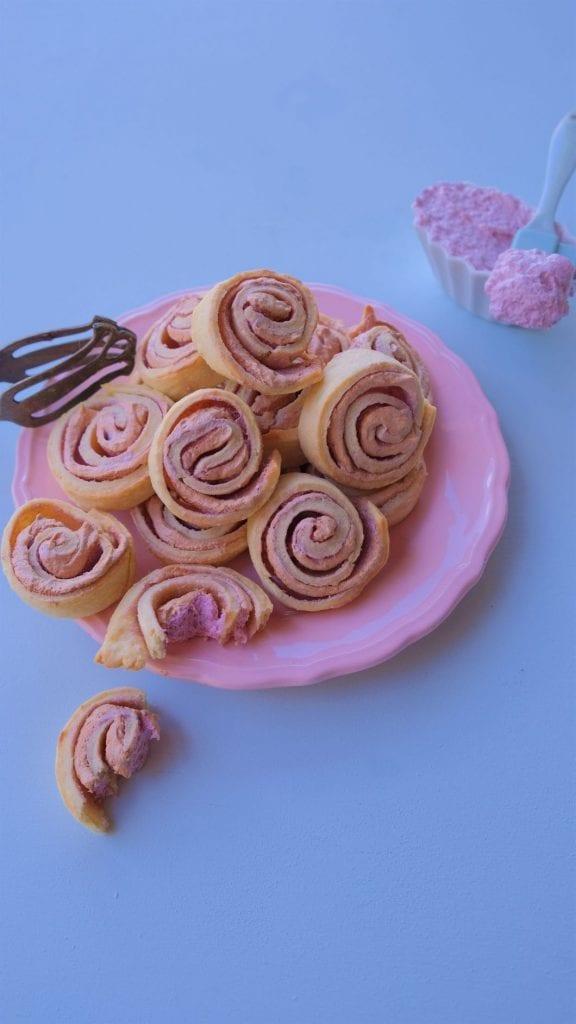 עוגיות שושנים ורודות